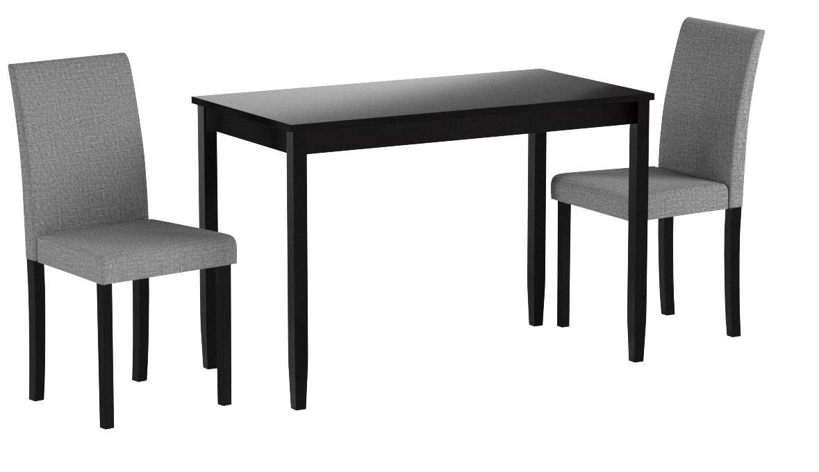 Monarch Specialties I 1016, Dining Set Set, Parson Chairs, Black/Grey, 3pcs by Monarch Specialties (Image #5)