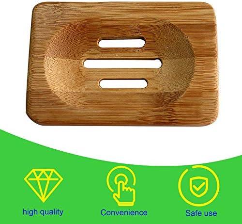 Jabonera de madera natural para ba/ño N//V Burly-Wood
