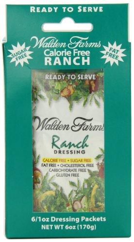 Calories Ranch Dressing (Walden Farms Dressing, Ranch,6 count,net weight 6 ounce)
