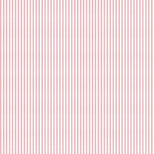 Pink White SA9136 Taffeta Ticking Wallpaper - Taffeta Ticking