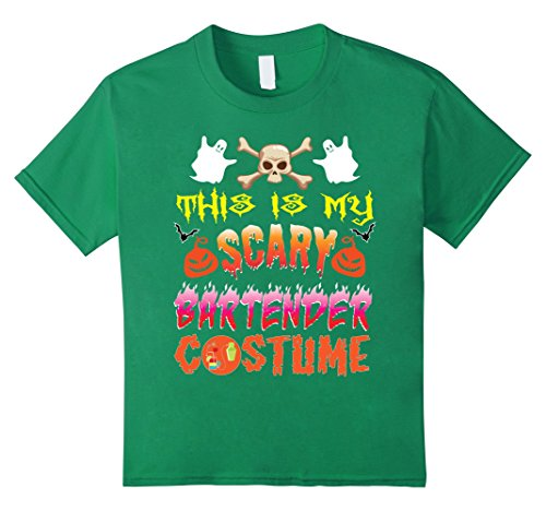 Kids This Is My Scary Bartender Costume For Halloween T-Shirt 10 Kelly (Bartender Costume)