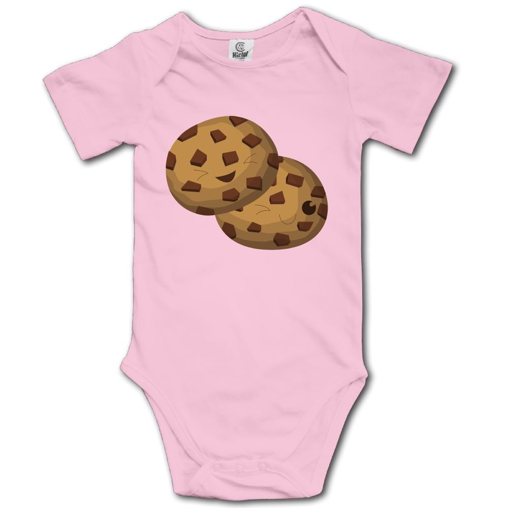Baby Toddler Climbing Bodysuit Brown Chocolates Biscuits Infant Climbing Short-Sleeve Onesie Jumpsuit