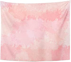 WHUA Tapestry Colorful Abstract Light Pink Blush Coral Digital Watercolor Red Floral Color Tapestry Home Decor Wall Hanging Living Room 150x200cm