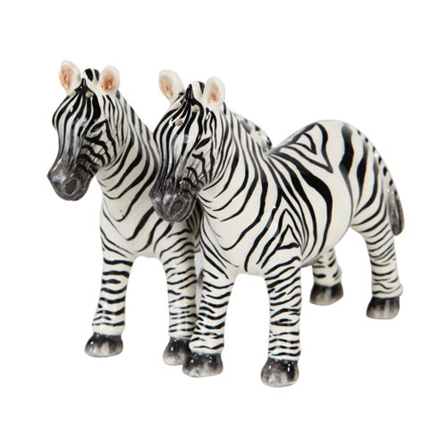 1 X 3.75''H Animal Kingdom Zebras Magnetic Salt & Pepper Shakers -Attractives Collection by Pacific Giftware