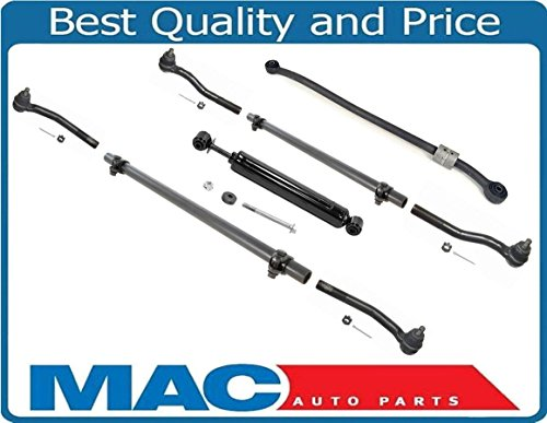 Steering Kit Tie Rod Sleeves Track Bar Stabilizer for Jeep Grand Cherokee 99-04