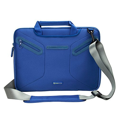 Evecase Portable Slim Neoprene Briefcase Messenger Sleeve Case Bag for Lenovo Yoga Series 13.3-inch Laptop/Ultrabook (w/ Handle and Carrying Strap) - Blue