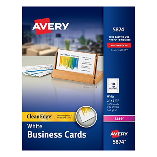 avery business cards clean edge - 6
