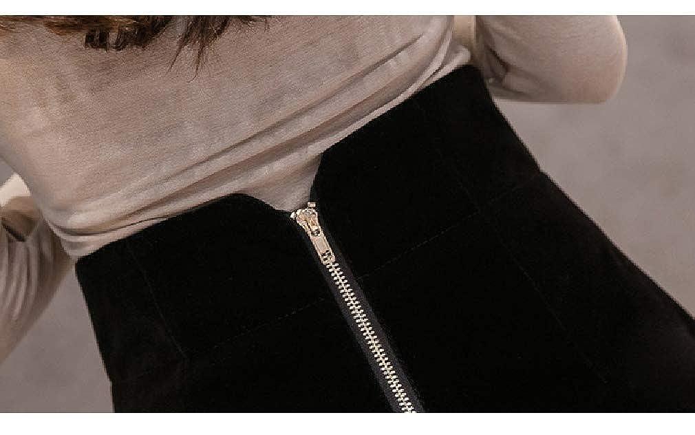 Pantaloncini Invernali da Donna a Vita Alta alla Moda a Gamba Larga in Velluto Doufine