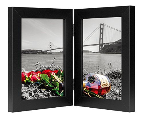 Frametory, 5x7 Inch Hinged Picture Frame with Glass Front -