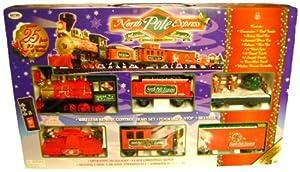 Amazon.com: Eztec 37260 G Scale North Pole Express Christmas Train ...