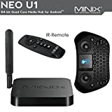 MINIX Neo U1 Latest Ultra 4K HD Android 64-Bit TV Box Streaming Media Player with GP800 Wireless Keyboard