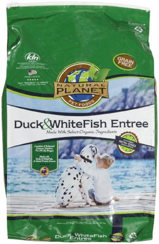 Natural Planet Organics Rabbit & Salmon Entree Dry Dog Food 15 lb