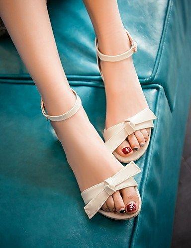 ShangYi Sandaletten für Damen Damenschuhe - Sandalen - Outddor / Kleid / Lässig - Kunstleder - Keilabsatz - Absätze / Zehenfrei - Blau / Rosa / Beige Blue