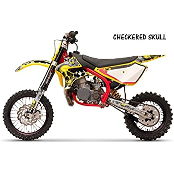 Cobra CX 50 JR 2003-2012 MX Dirt Bike Graphic Kit Sticker Decals CHECKERED SKULLS GREEN