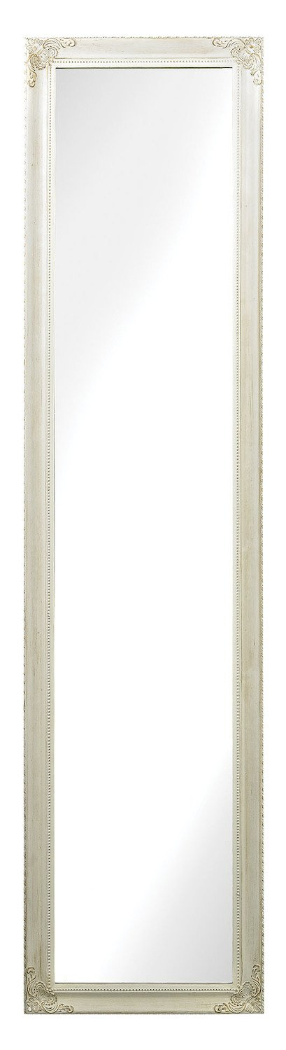 Masalia Floor Mirror in Antique White - Finish: Antique White, Style: Traditional. Lenght: 1.00in, Width: 15.00in, Height: 63.00in. From Sterling Industries - mirrors-bedroom-decor, bedroom-decor, bedroom - 51fWrFMKVBL -