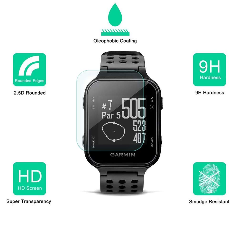 2 Pack Dmax Armor for Garmin Approach S20 Tempered Glass Screen Protector