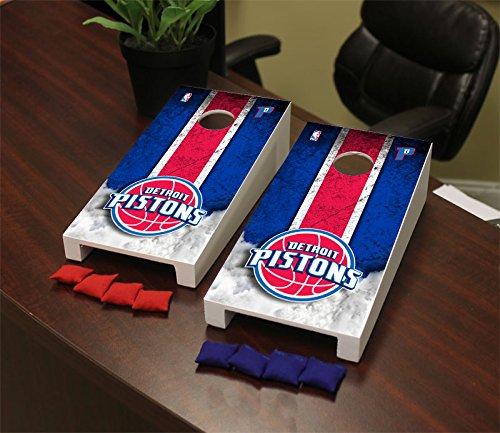 Victory Tailgate Detroit Pistons NBA Desktop Mini Cornhole Game Set by Victory Tailgate