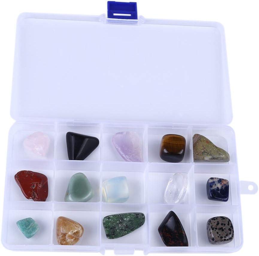 YLCOYO - Caja de 15 Piedras de Cristal Mineral Diferentes para decoración de Cristales: Amazon.es: Jardín