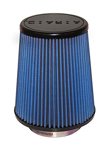 Airaid 703-457 Universal Clamp-On Air Filter: Round Tapered; 3.5 in (89 mm) Flange ID; 7 in (178 mm) Height; 6 in (152 mm) Base; 4.625 in (117 mm) Top