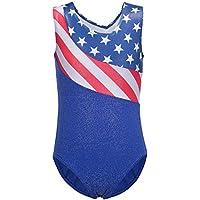 Leotards For Girls Gymnastics Starry Sparkly Shiny Biketards Shortall Unitards