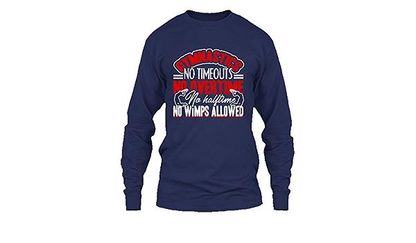 "Gymnastics /""NO WIMPS ALLOWED/"" gymnast t-shirt ALL SIZE"