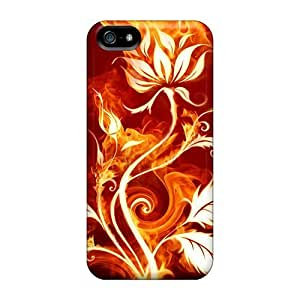 Tpu Shockproof/dirt-proof Fire Flower Cover Case For Iphone(5/5s) by supermalls