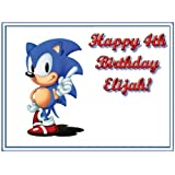 "Single Source Party Supplies - Sonic the Hedgehog Cake Edible Icing Image #4 - 8.0"" x - 10.5"" Rectangular"