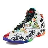 Nike Hombres Lebron XI Premium What the Lebron Negro/Lava/Plata -Galaxy Azul Sintético Zapatos De Basquetbol Tamaño 9