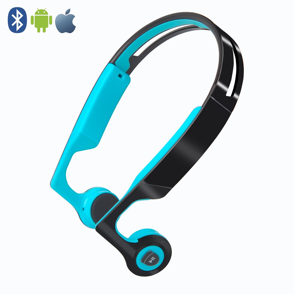 Bone Conduction Headphones,Wireless Headphones Bluetooth 4.2 Stereo Open Eardrum Headphones Waterproof for Sports Driving Running Driving,Sweatproof Waterproof