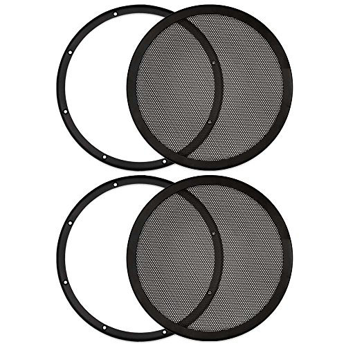 Goldwood Sound, Inc. Monitor Speaker And Subwoofer Part, Heavy Duty Steel Mesh Snap On Woofer Grills for 10