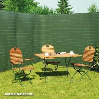 Cañizo de Rügen, plástico, verde, 120 x 300 cm: Amazon.es: Jardín