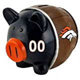 NFL Denver Broncos Resin Large Thematic Piggy Bank