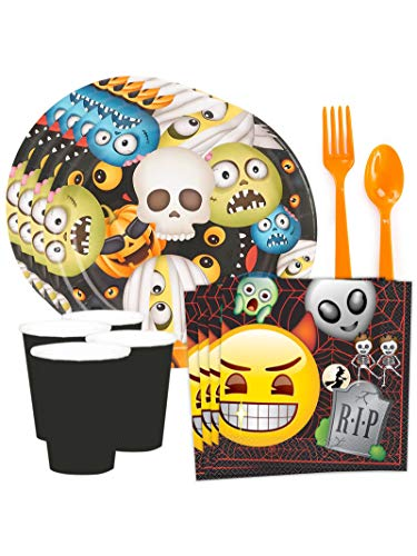 Costume SuperCenter Emoji Halloween Standard Tableware Kit (Serves 8) ()
