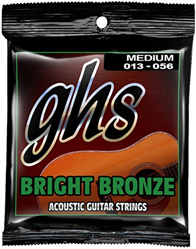 GHS Strings BB40M Bright Bronze, 80/20 Copper-Zinc Alloy, Ac
