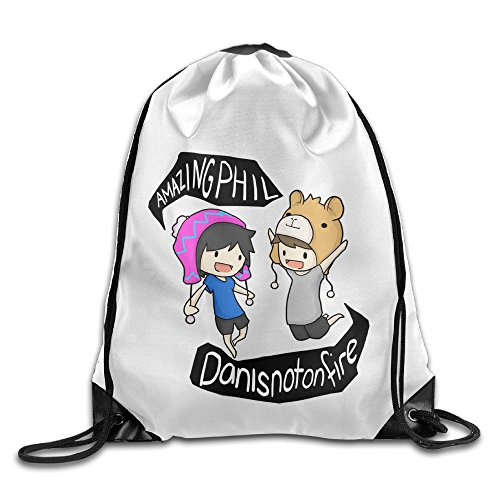 Bekey Dan And Game Phil Animated Pink Drawstring Backpack Sport Bag For Men & Women For Home Travel (Swiss Army Travel Blazer)