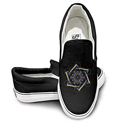 GD Metatron Cube Sportstyle Unisex Flat Canvas Shoes Sneaker Black