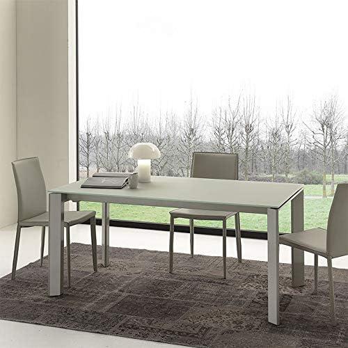 M-029 Mesa de Comedor Negra de Cristal Extensible Design Amos ...