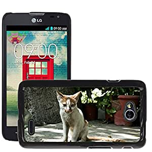Hot Style Cell Phone PC Hard Case Cover // M00110907 Cats Animals Mammals Thin Small // LG Optimus L70 MS323