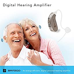 Britzgo Hearing Amplifier BHA-702S Silver Gray Back The Ear Set of 1
