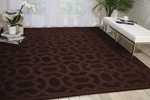 Nourison Barcelona Espresso Rectangle Area Rug, 7-Feet 9-Inches by 9-Feet 9-Inches 7 9 x 9 9