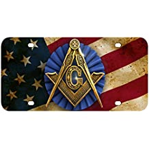 L275 FREE MASON FLAG License Plate Front Custom Novelty Tag Vanity Frame Holder Wrap Wraps