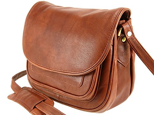 Visconti pour bandoulière marron femme Leather Sac zrqawzB