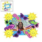 Foam Summer Fun Photo Frame Magnet Craft Kits (1 dz)
