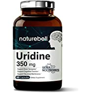 Maximum Strength Uridine Monophosphate (Choline Enhancer) 350mg - 60 Capsules- Ultra Nootropics for Cognitive Health. Non-GMO and Made in USA