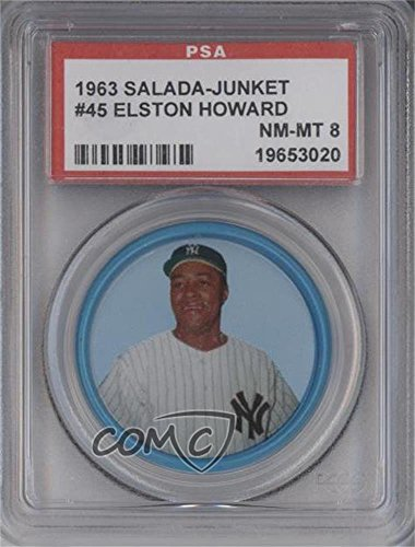 Elston Howard PSA GRADED 8 (Baseball Card) 1963 Salada Tea/Junket Desserts All (Salada Baseball Coins)