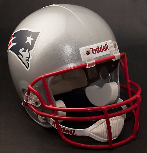 New England Patriots Deluxe Replica Football Helmet Full Size -- (New Version)