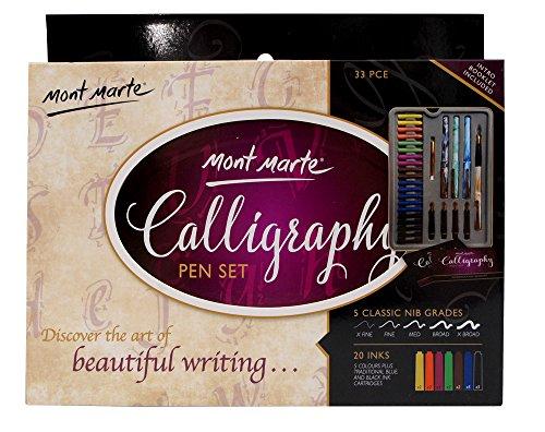 Mont Marte Calligraphy Pen Set, 33 Pieces