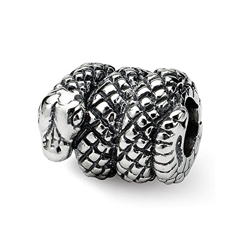 Mia Diamonds Solid 925 Sterling Silver Reflections Snake -
