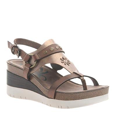 64f026af6d57 OTBT Women s Maverick Wedge Sandals - Dark Brown - 5.5