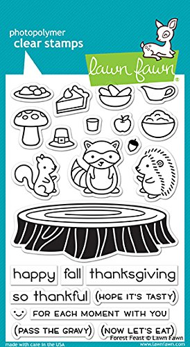 LAWN FAWN Clear Stamps 4''X6'' Forest Feast (LF1464) by Lawn Fawn